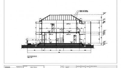 potongan denah rumah 2 lantai   denah rumah, lantai, modern