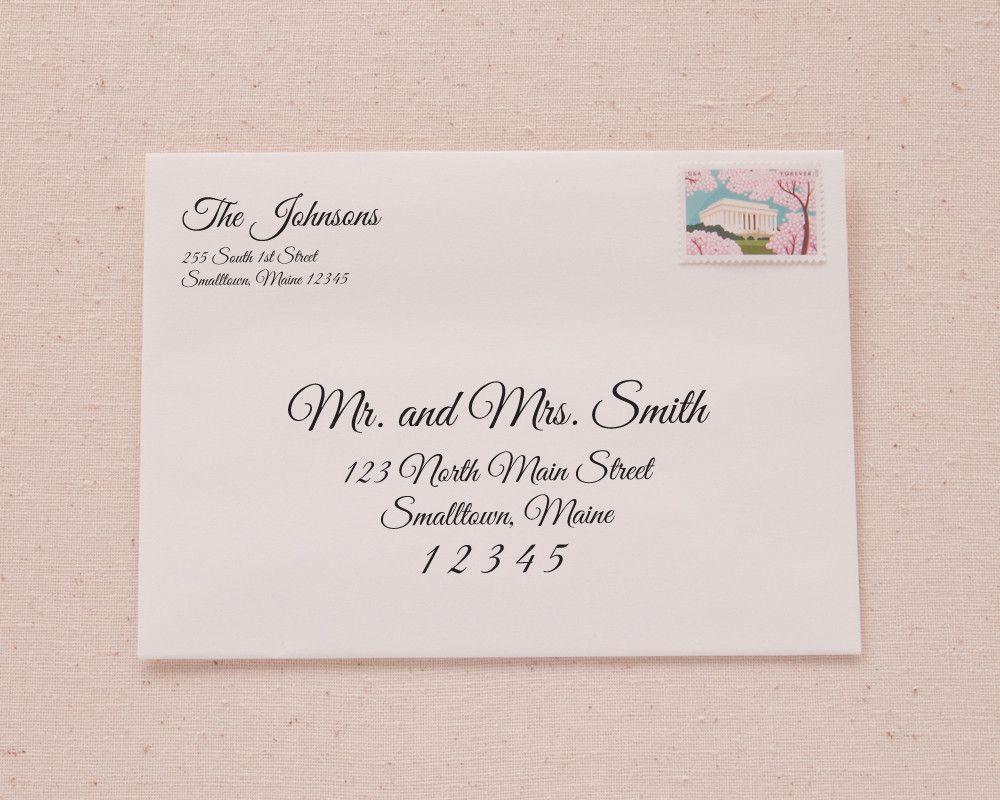 Printable A7 Envelope Address Template | Elegant Calligraphy ...