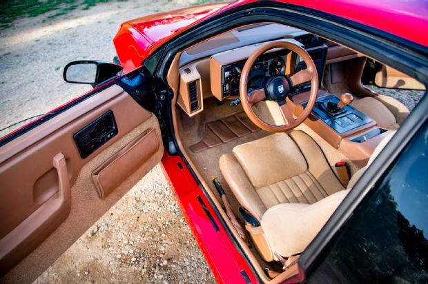 1988 Pontiac Fiero GT. Yes, the Fiero's interior does recall the '80s—in a good way— with spacious seating, heavily stylized architecture, and, oh, those plastics!
