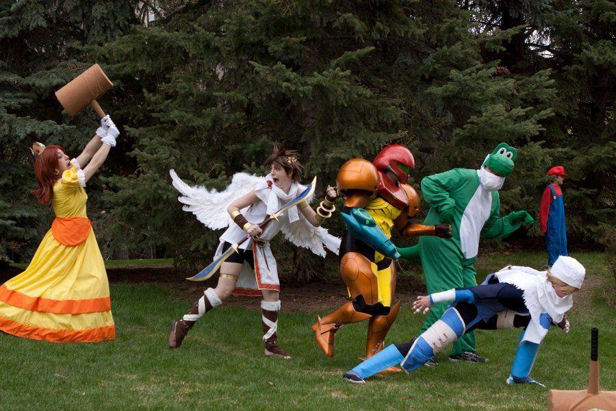 Super Smash Bros. cosplay.