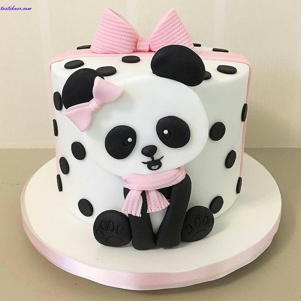Stupendous Panda Birthday Cake Tortikner Cakes Online Childish Cakes Panda Personalised Birthday Cards Veneteletsinfo