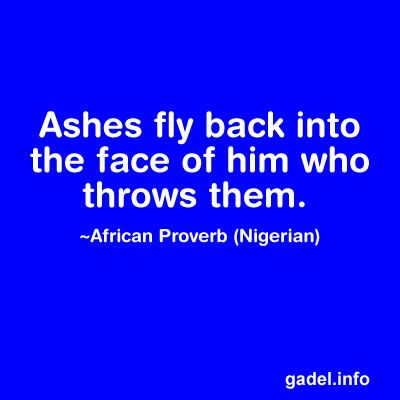 African Proverbs, Parables and Wise Sayings