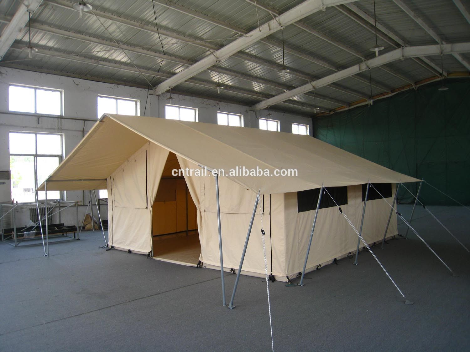 Model cst2001 canvas safari tent canvas cabin tent photo for Tent cottage