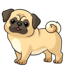 pug soooo many more images at the link of all kinds of animals rh pinterest com clipart puppies on skate board clip art puppies and dogs