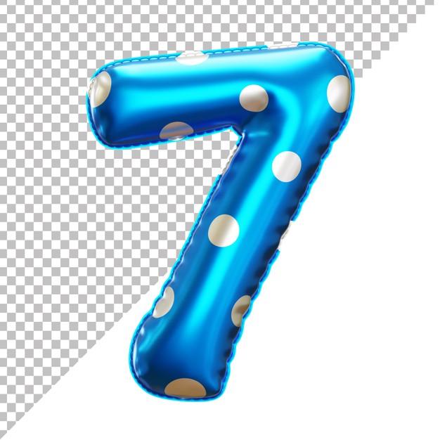 3d Realistic Number 7 Polka Dots Helium Foil Balloon Foil Balloons Balloons Helium