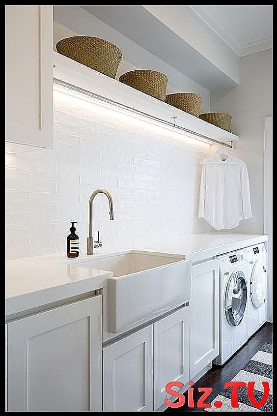 Stylish laundry hanging rails that I wish were min