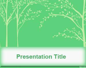 Tree leaves powerpoint template is a simple green background with tree leaves powerpoint template is a simple green background with tree leaves illustration on the master toneelgroepblik Gallery