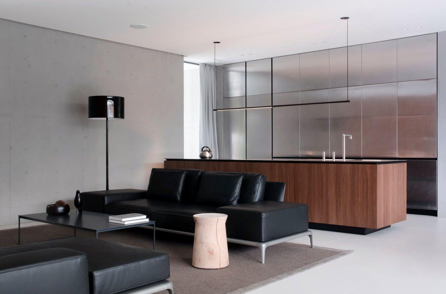 Diseño de casa moderna de un piso con hermosa fachada y amplios ...