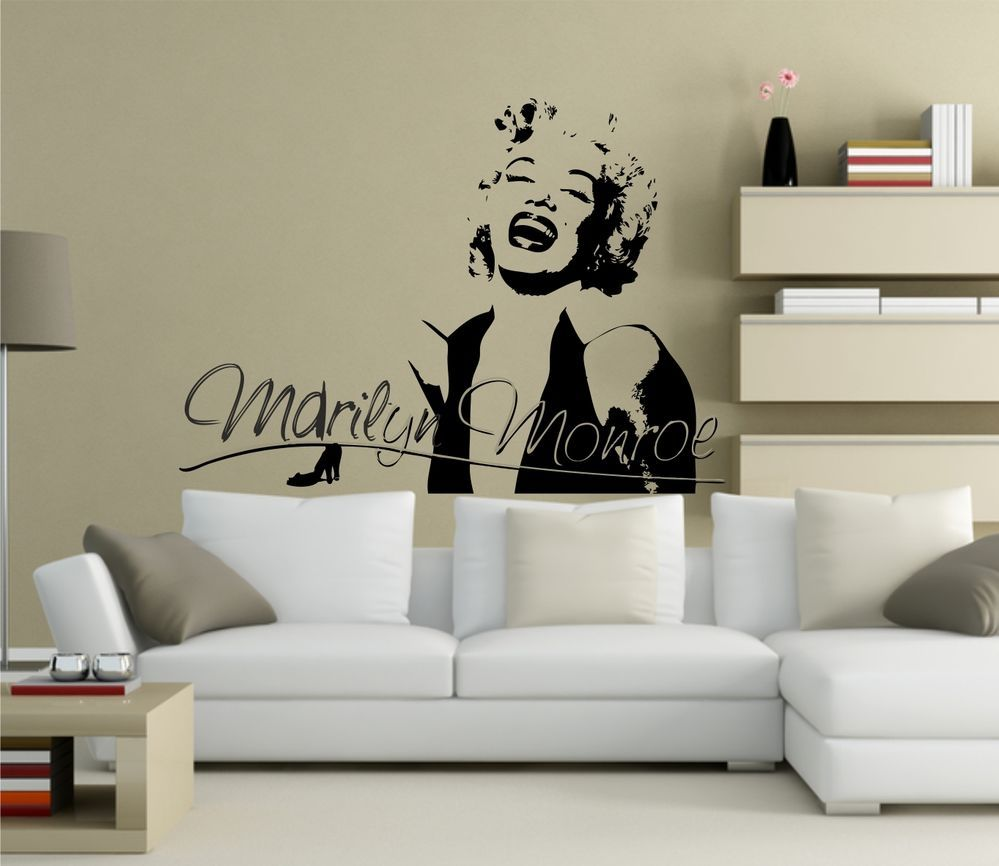 MARILYN MONROE WALL ART QUOTE STICKER   KITCHEN LOUNGE BEDROOM LOVE DECAL