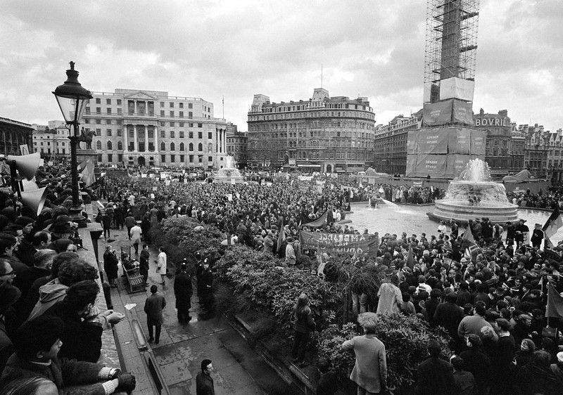 Description Of View Of The Anti Vietnam War Demonstration Held In Trafalgar Square London On March 17 1968 Ap Photo Vietnam War Vietnam Photo