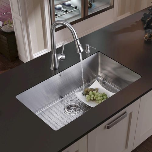 Vigo Farmhouse Stainless Steel Kitchen Sink Faucet A