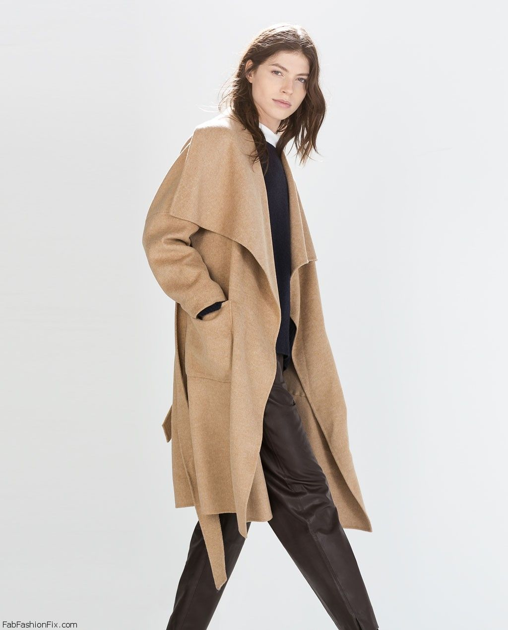 ZARA long wool camel coat. #zara | The Camel Coat