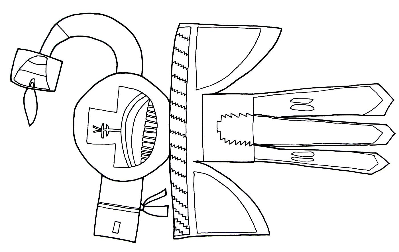 A Bird Design From The Hopi Indians Printable Coloring Book Page