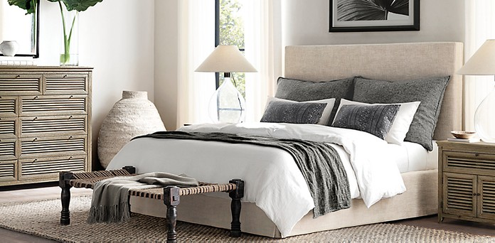 Parsons Slipcovered Bed Collection RH Restoration