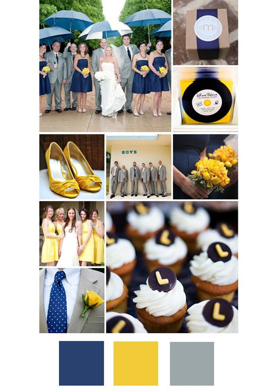 Navy, yellow and grey