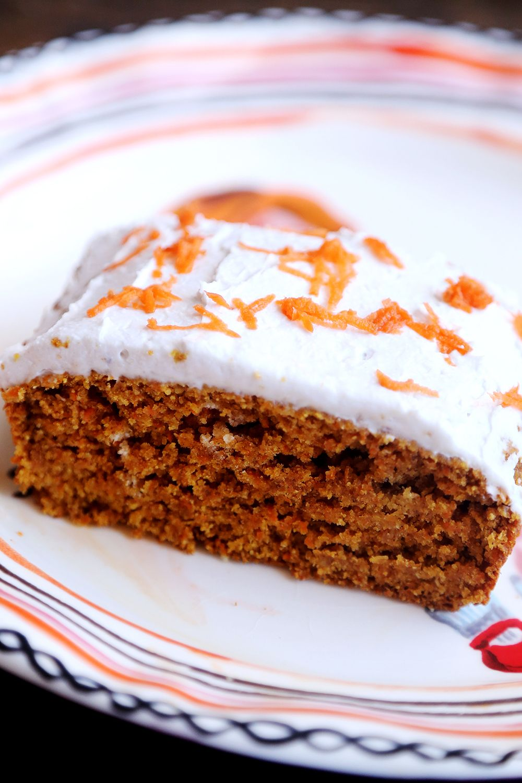 Spelt Carrot Cake With Coconut Cream Frosting Vegan Baked