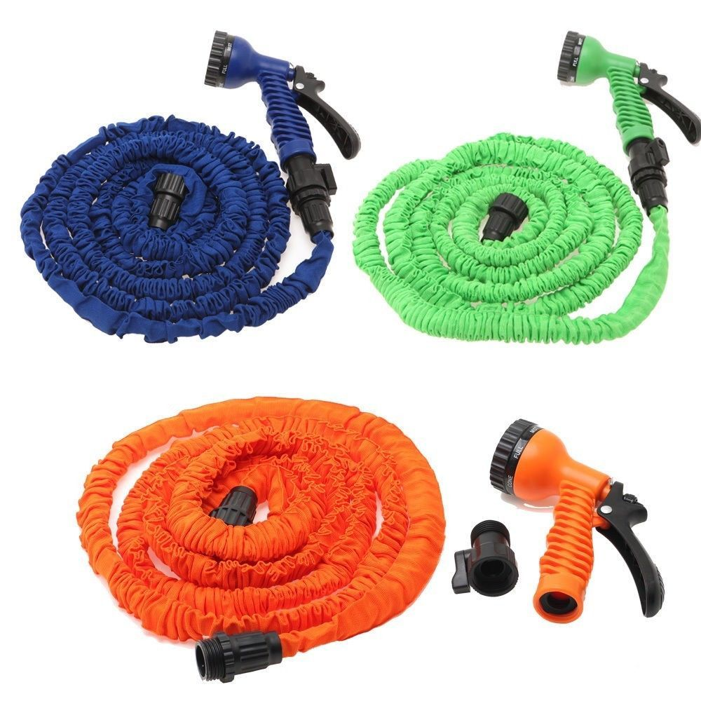 Multi Color 100ft Expandable Flexible Garden Water Hose With Spray Nozzle Head Water Garden Water Hose Hose
