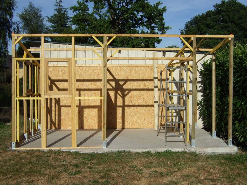 Construire Abris Bois structure | construire abri de jardin, abri de jardin