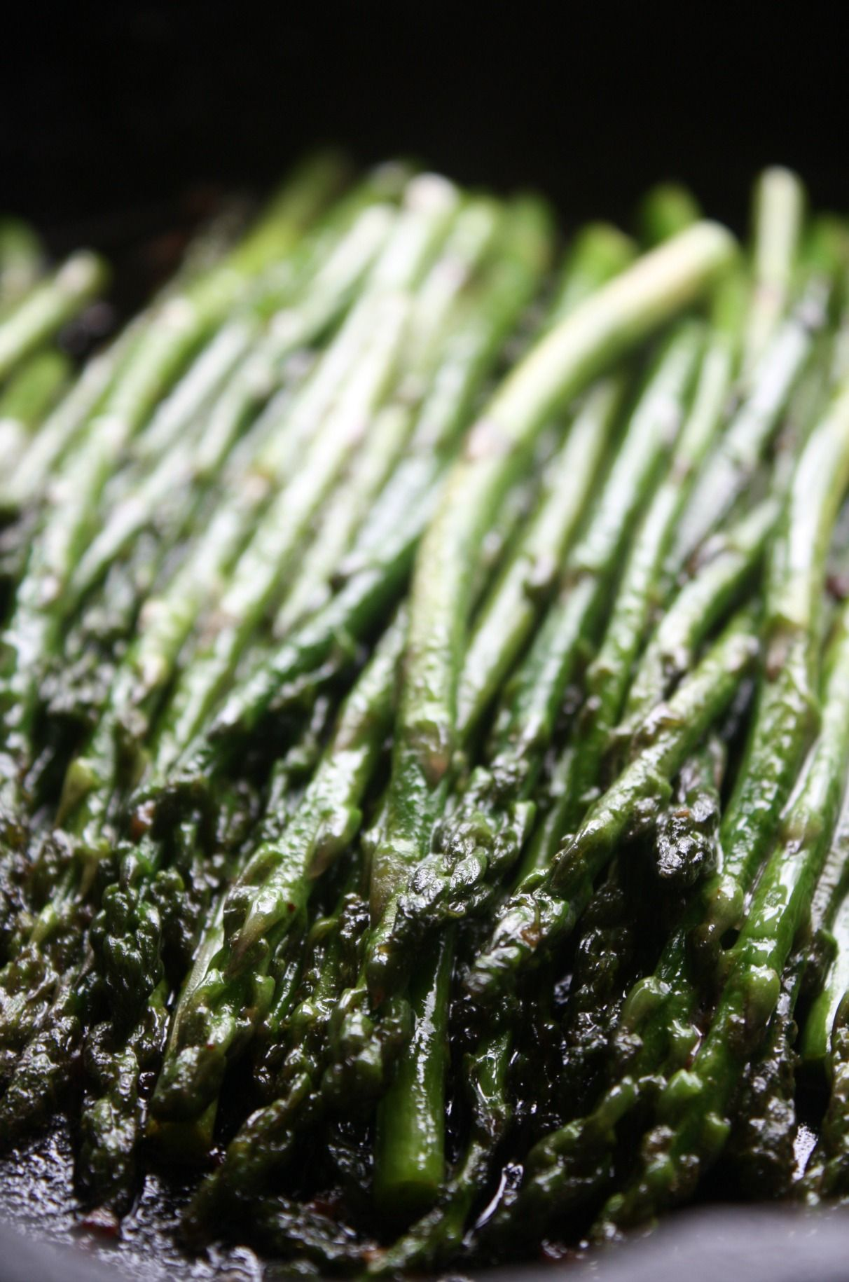 Fresh Asparagus Sauteed In A Cast Iron Skillet With Garlic And Butter  Asparagus Is One