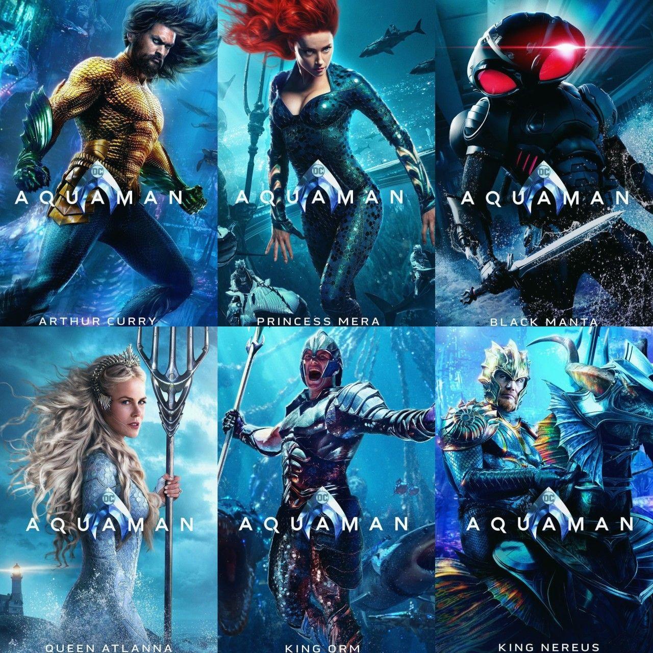 "Movie Poster 2018 DC Comic/'s /""Aquaman/"" Jason Mamoa Color Semi-Gloss 3 Sizes"
