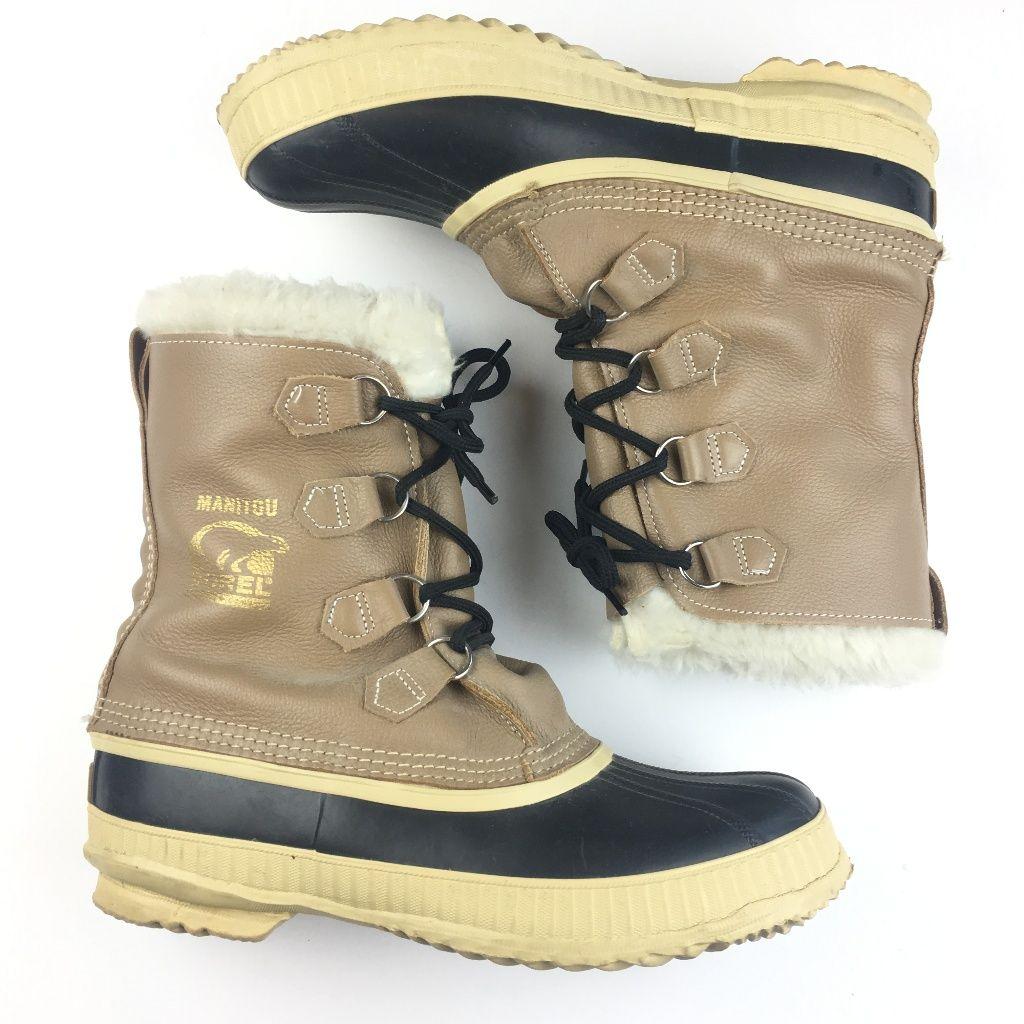 Sorel Manitou Faux Fur Winter Boots