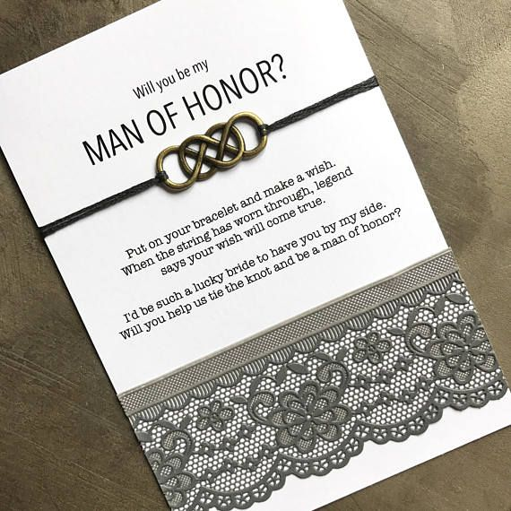 Man Of Honor Gift Man Of Honor Proposal Tie The Knot Bridesman Proposal Man Of Honour Best Friend Bridesmaid