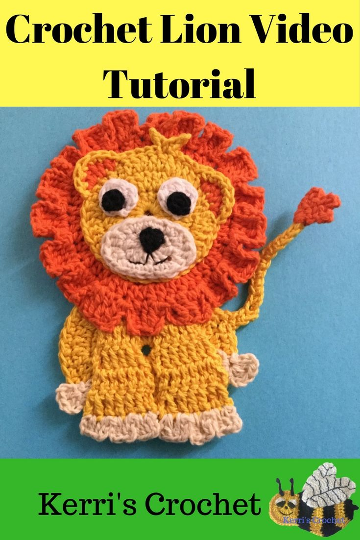 Crochet lion video tutorial and free crochet pattern. Learn how to ...