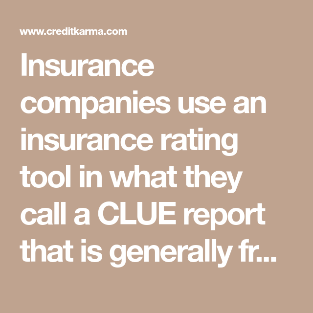 Insurance Companies Use An Insurance Rating Tool In What They Call