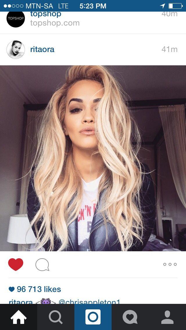 Blonde Locks Olive Skin Tone Rita Ora Hair Ambition In
