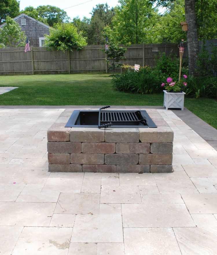 7 Affordable Landscaping Ideas For Under 1 000: Cape Cod Fire Pits - Square In 2019