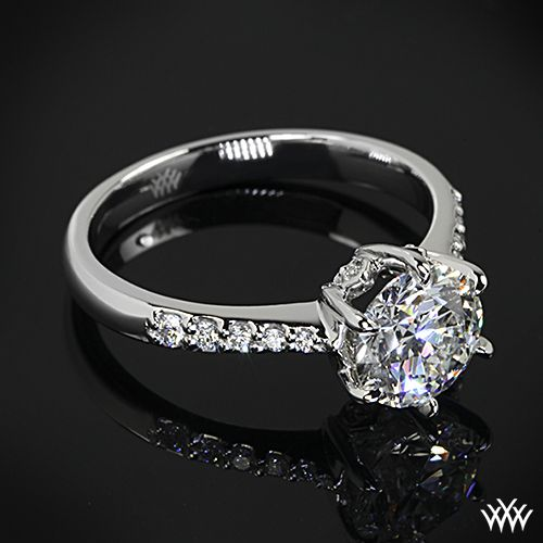 Custom Leaf Head Diamond Engagement Ring