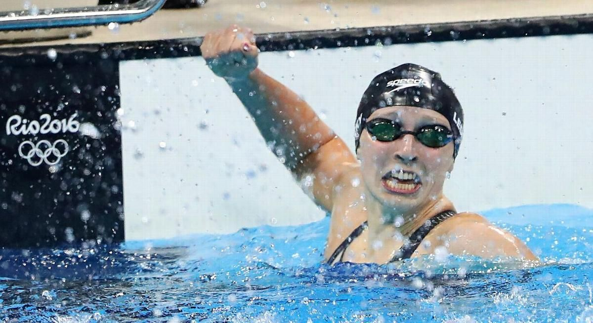 Katie Ledecky sets world record in 400-meter freestyle final