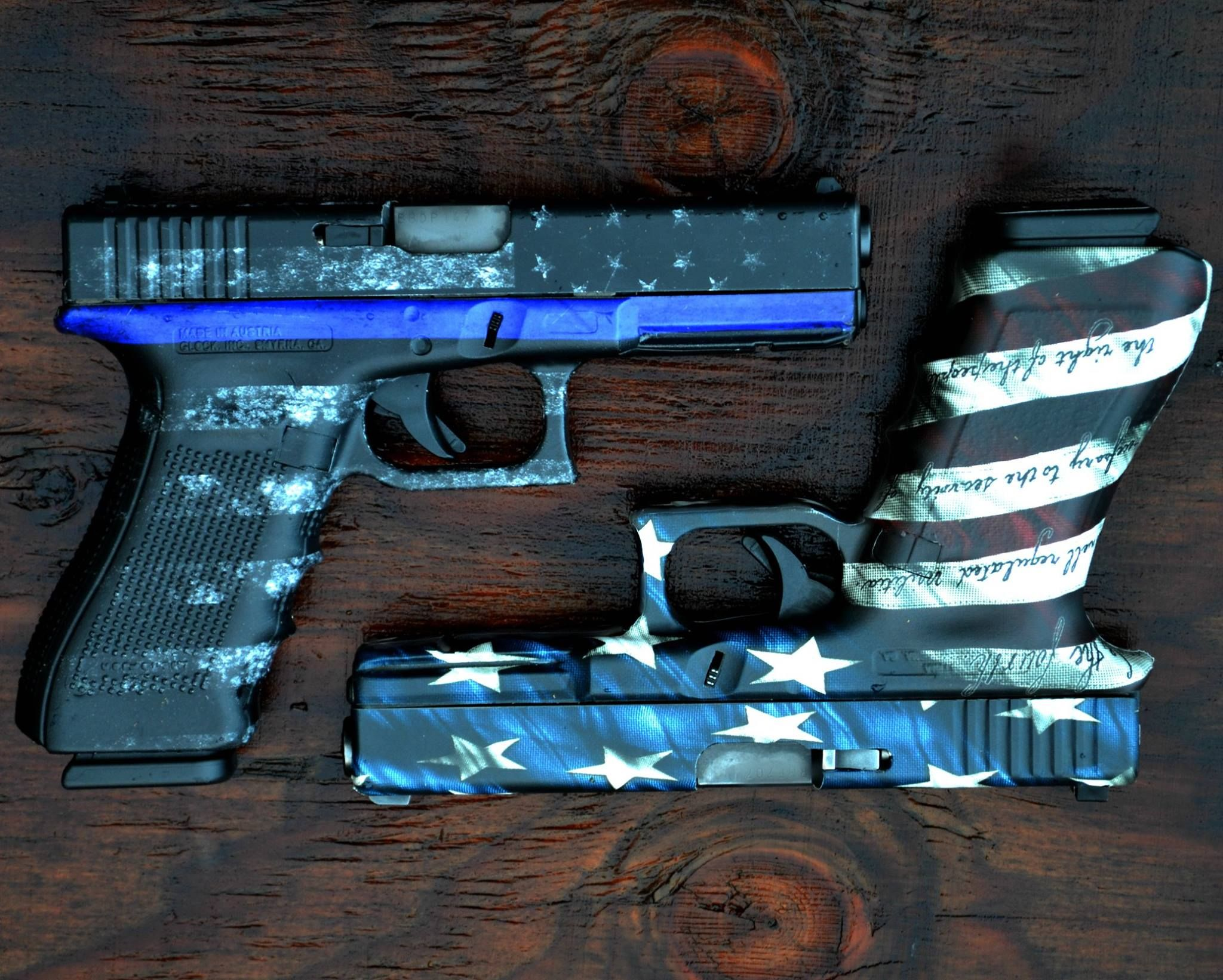 """The more patterns we create the more guns I """"have"""" to get! Check out our full selection of patterns and templates at gunskins.com."""