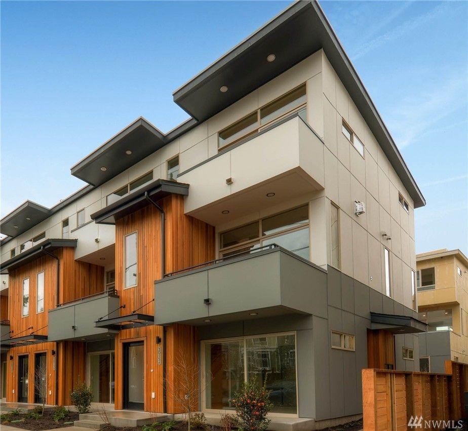 Modern Seattle Home On 60th Ave   3 Story, Sliding Door, Balcony