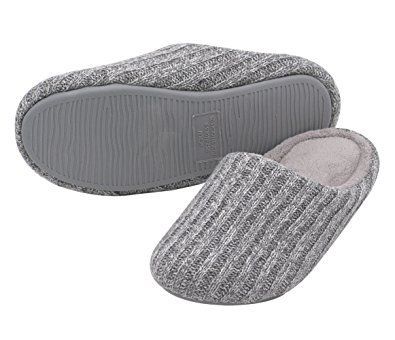 19136b11419b HomeIdeas Women s Cashmere Cotton Knitted Anti-Slip House Slippers ...