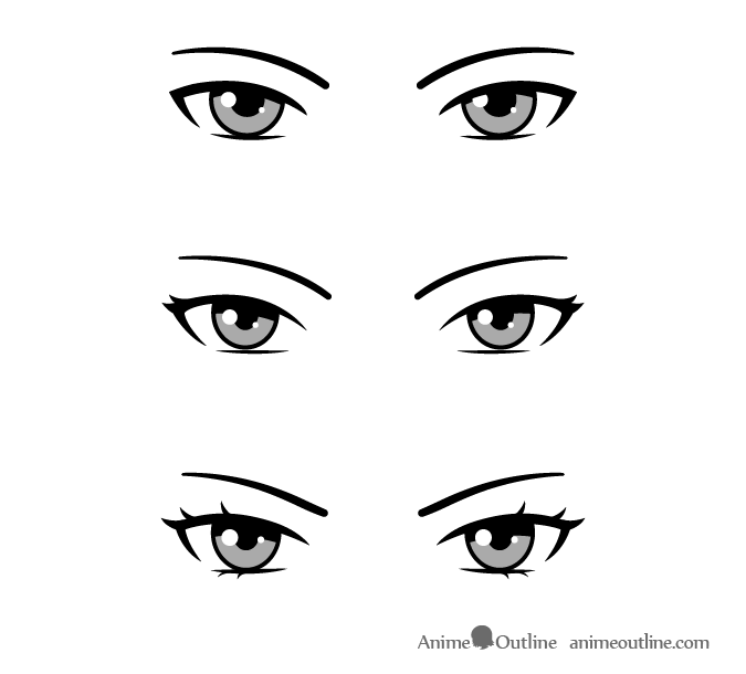 Drawing Anime And Manga Eyes To Show Personality Animeoutline In 2020 How To Draw Anime Eyes Manga Eyes Anime Eyes