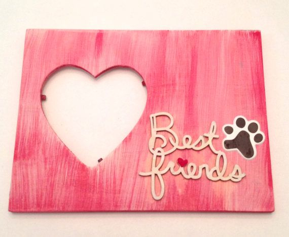 Pink Heart Wood Frame That Says Best Friends By Spreadblessings