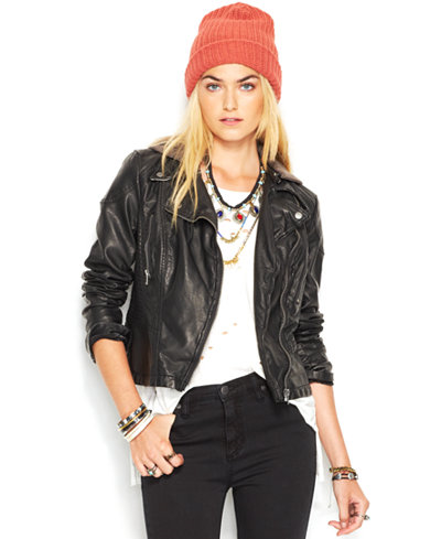 136.99$  Buy now - http://viieu.justgood.pw/vig/item.php?t=y11m2ih10456 - Faux-Leather Hooded Moto Jacket 136.99$