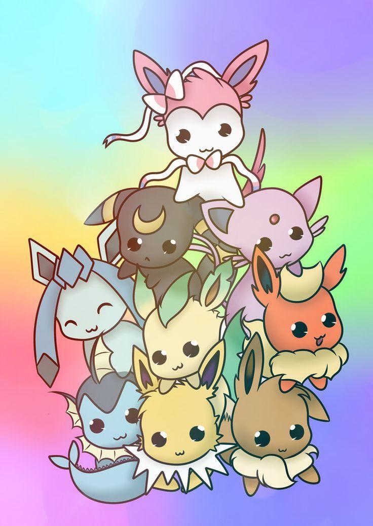 cute chibi eeveelutions | Eevee | Pokemon eeveelutions ...