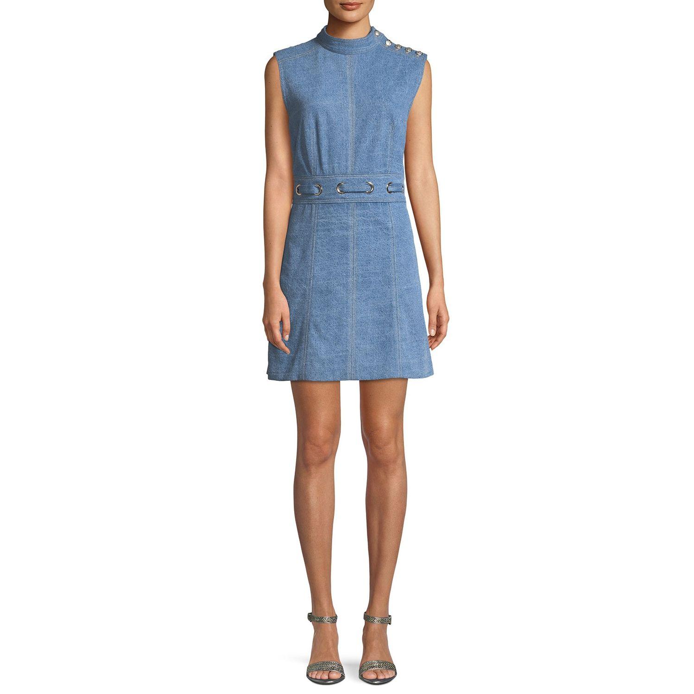 4bf559be805d --evaChic--This Veronica Beard Nico Denim Mini Dress is an urban wardrobe