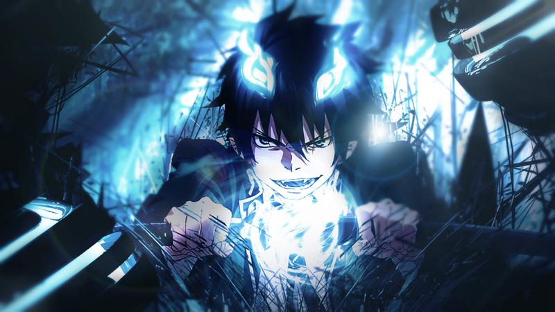 Youtube Channel Art Rin Ocumara Blue Exorcist Rin Blue Anime Blue Exorcist