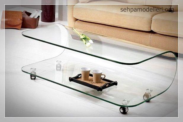 dekoratif akrilik cam sehpa dekorasyon Pinterest Tables