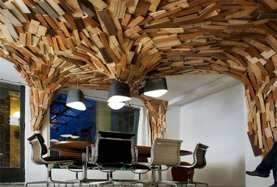 Using materials up and over, makes the space come alive. Take it ...