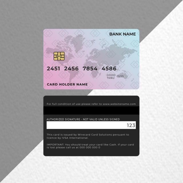 Bank Credit Debit Card Design In Light Color Debit Card Design