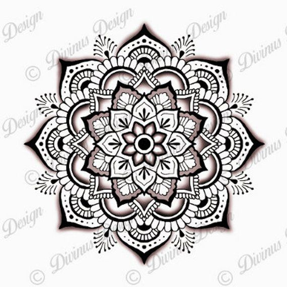 Photo of Intricate Mandala Tattoo Design and Stencil – Instant Digital Download