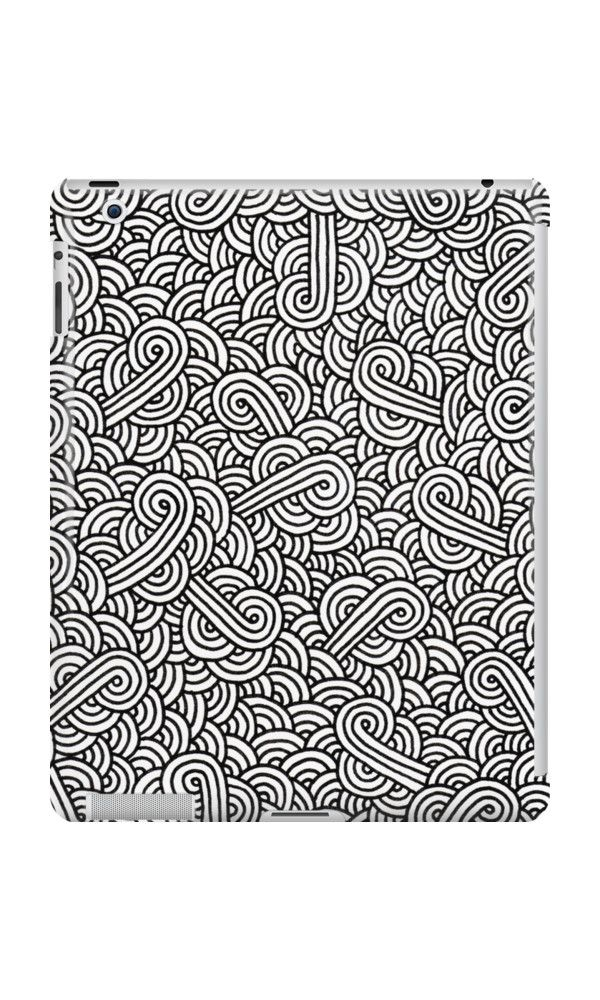 """""""White and black zentangle"""" iPad Cases & Skins by @savousepate on @redbubble #ipadcase #tabletcase #ipadskin #tabletskin #pattern #drawing #abstract #modern #graphic #geometric #boho #doodles #zentangle #blackandwhite"""