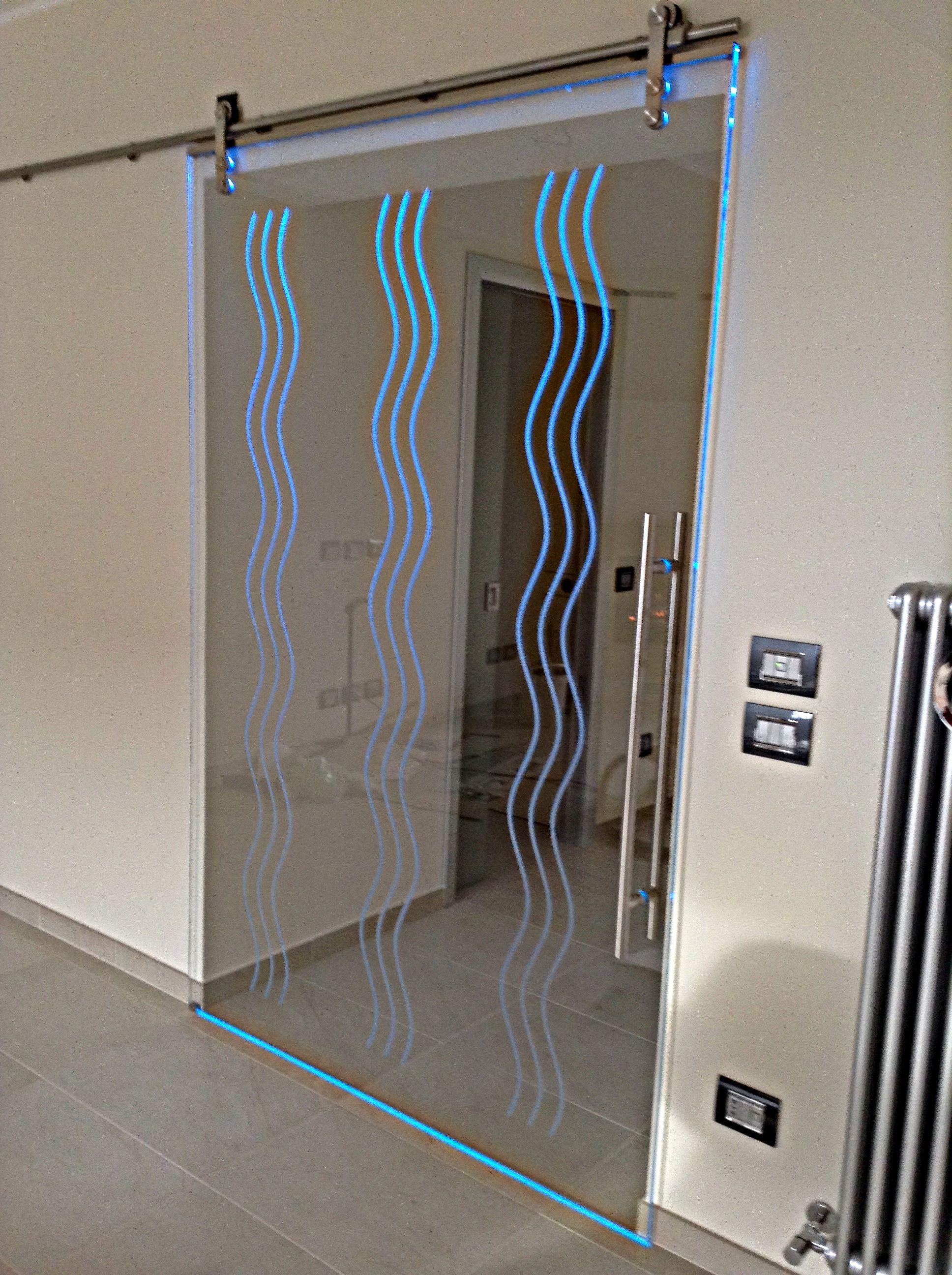 Porta Scorrevole A LED Porte In Vetro Pinterest Scale And Box - Porte box