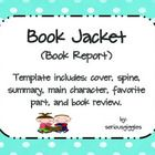 this template allows students to create a book jacket for their book
