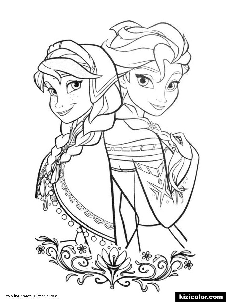 coloring pages of frozen 2 Google Search in 2020 Elsa