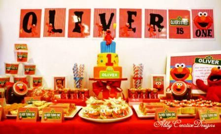Elmo First Birthday Ideas